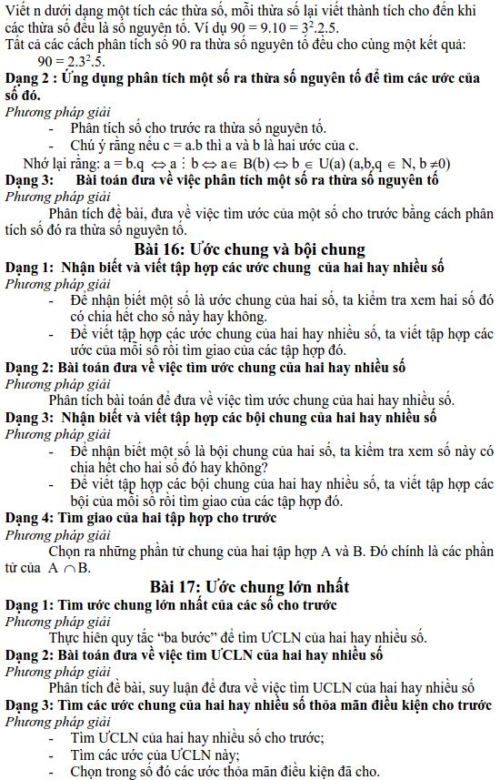 Chương 1: Ôn tập và bổ túc về số tự nhiên – Các dạng Toán lớp 6