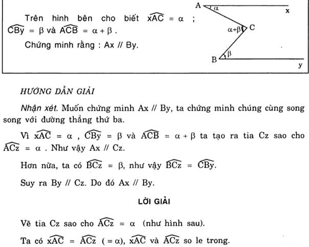 Vẽ thêm yếu tố phụ để chứng minh hai đường thẳng song song