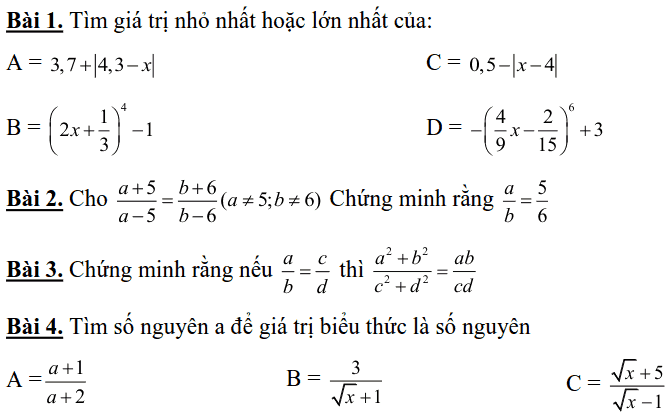 Đề cương ôn tập học kì 1 môn Toán 7 THCS Nguyễn Phong Sắc 2018-2019