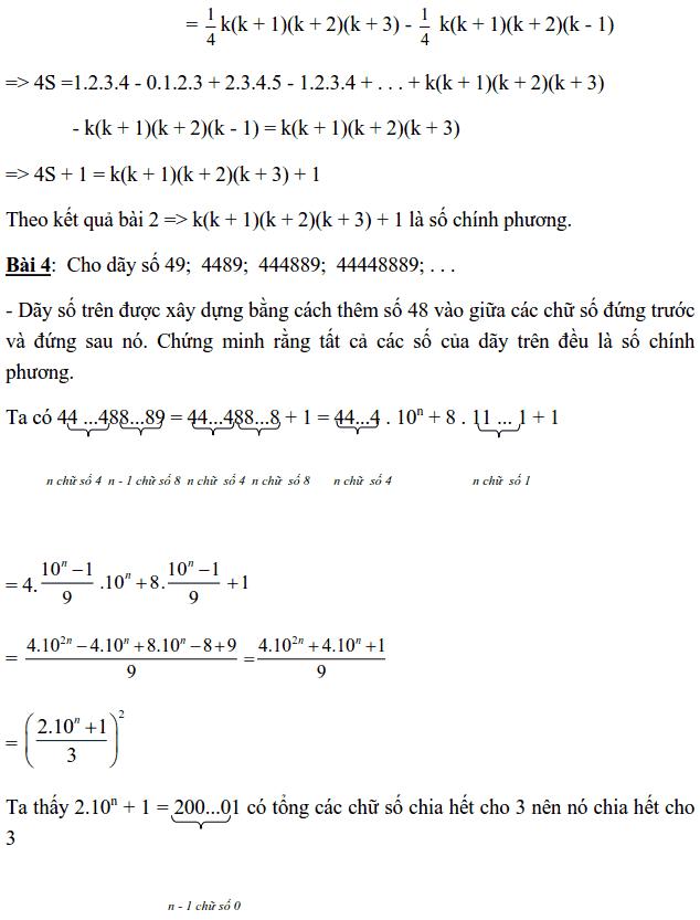Chuyên đề Số chính phương và các dạng bài tập