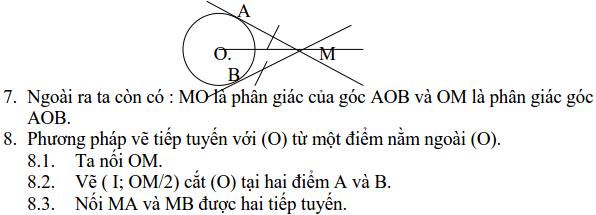 Ôn tập: Tiếp tuyến của đường tròn