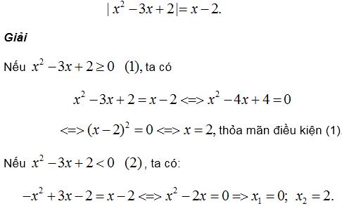Phương trình quy về phương trình bậc hai – Bồi dưỡng Đại số 9