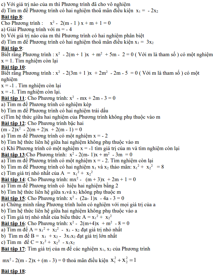 Dạng 3: Phương trình và hệ phương trình