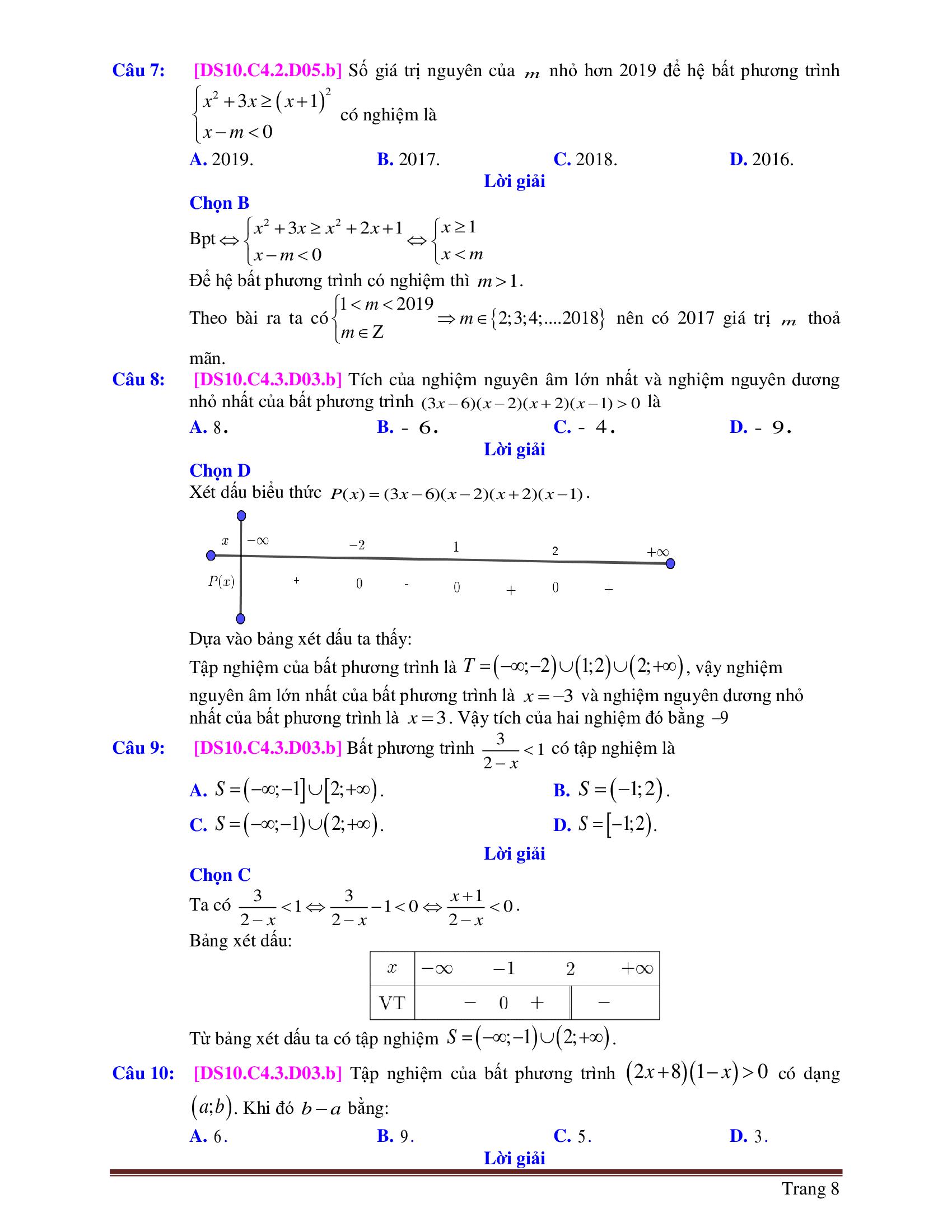 Bộ 9 Đề thi HK2 toán 10 có lời giải mới