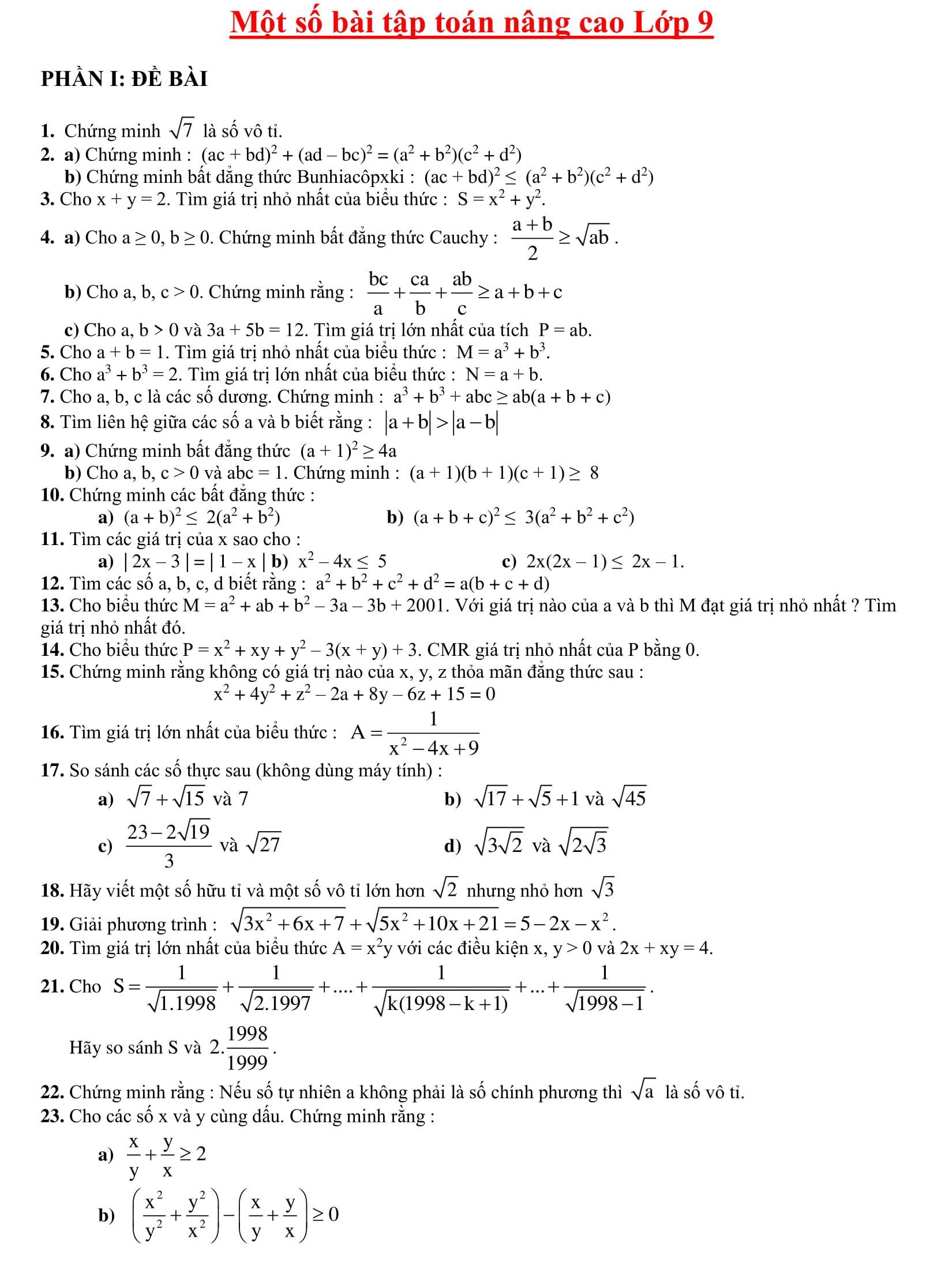 Sách 268 Bồi dưỡng HSG Toán 9
