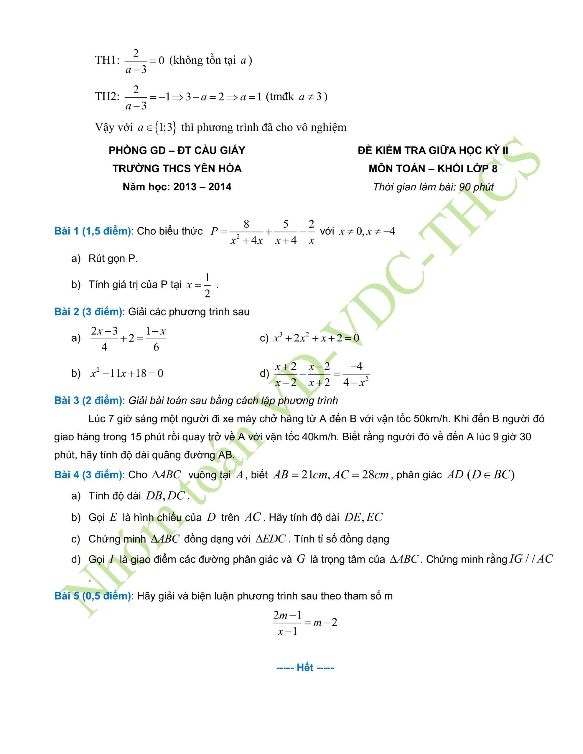 29+ đề thi giữa hk2 toán 8có lời giải để ôn tập hay nhất
