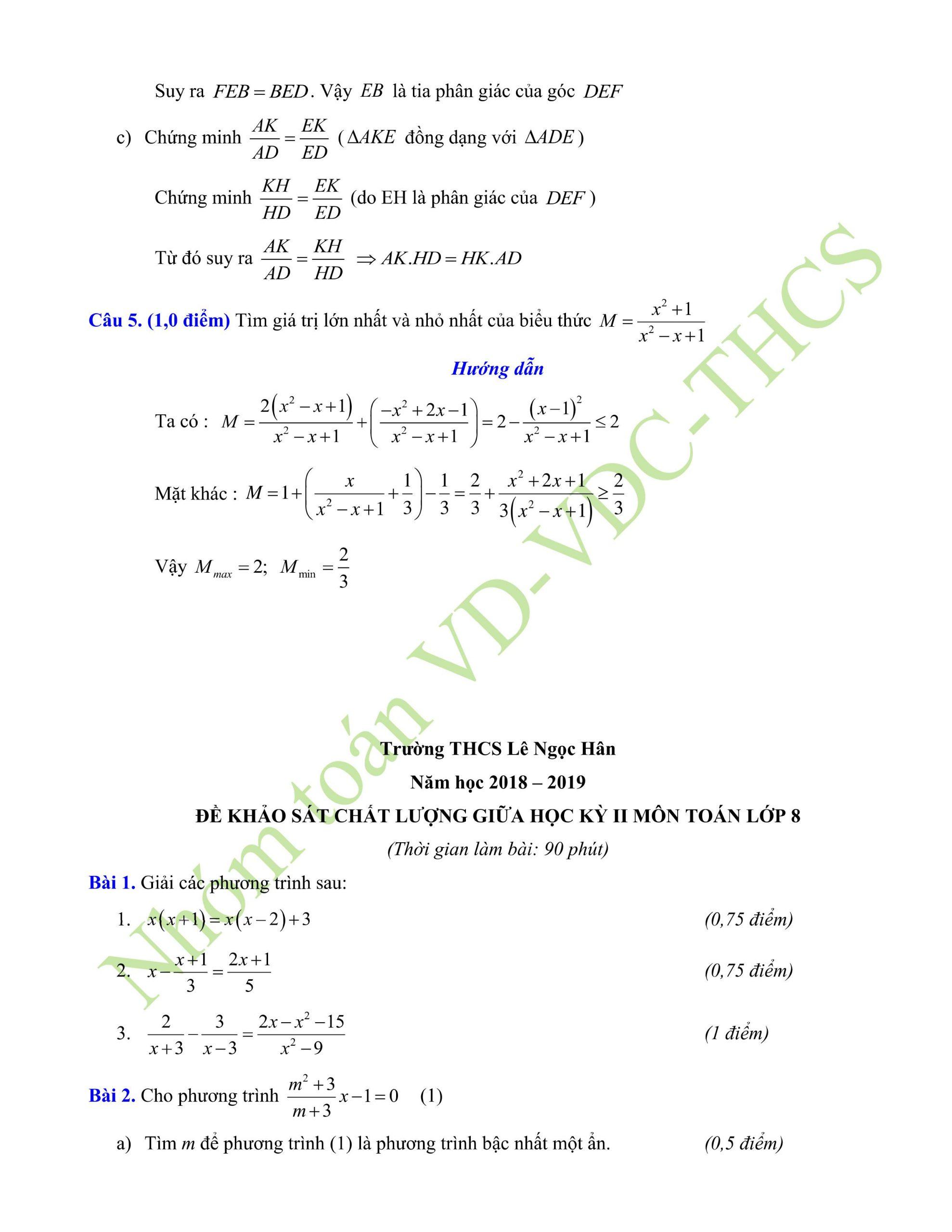 29+ đề thi giữa hk2 toán 8có lời giải để ôn tập mới nhất