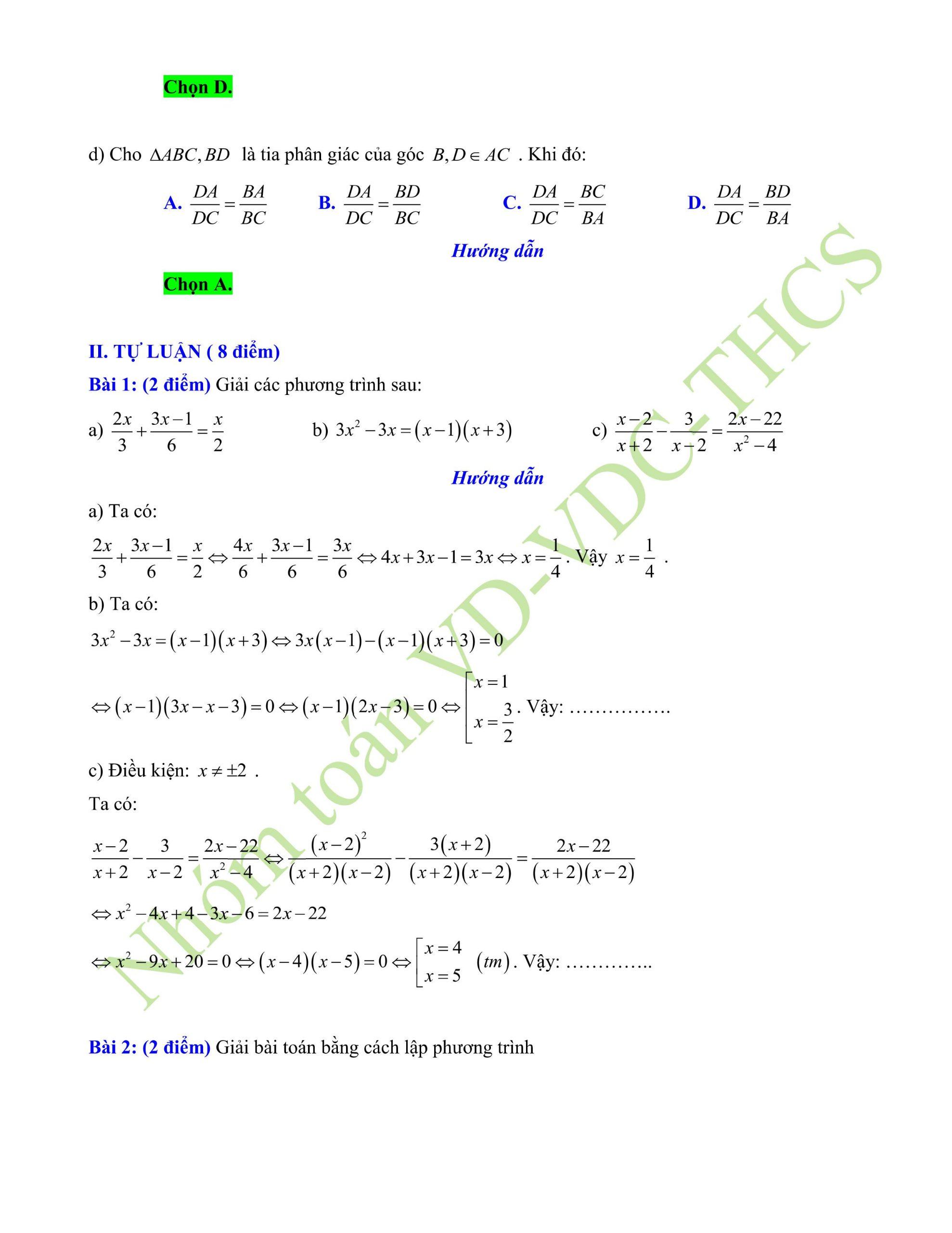 29+ đề thi giữa hk2 toán 8có lời giải để ôn tập hay nhất p4