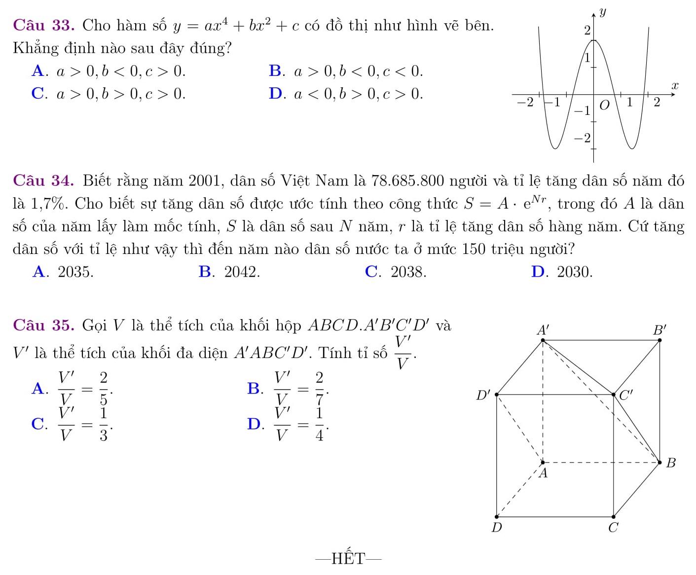 30 Đề thi HK1 Toán 12 được tổng hợp có lời giải mới nhất