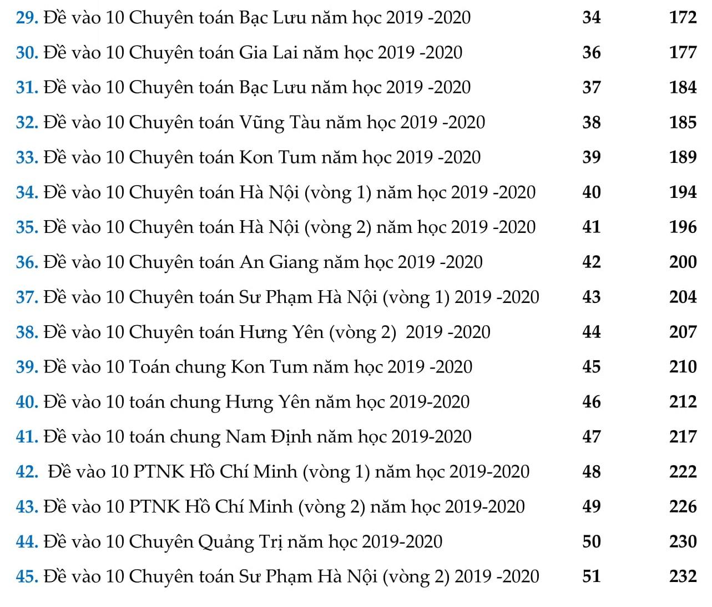 50 Đề thi vào lớp 10 môn Toán 2020 - 2021 hướng dẫn giải chi tiết