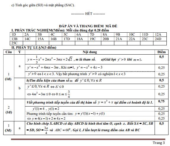 Bộ 9+ Mẫu Đề thi HK2 toán 11 Full bài giải hay