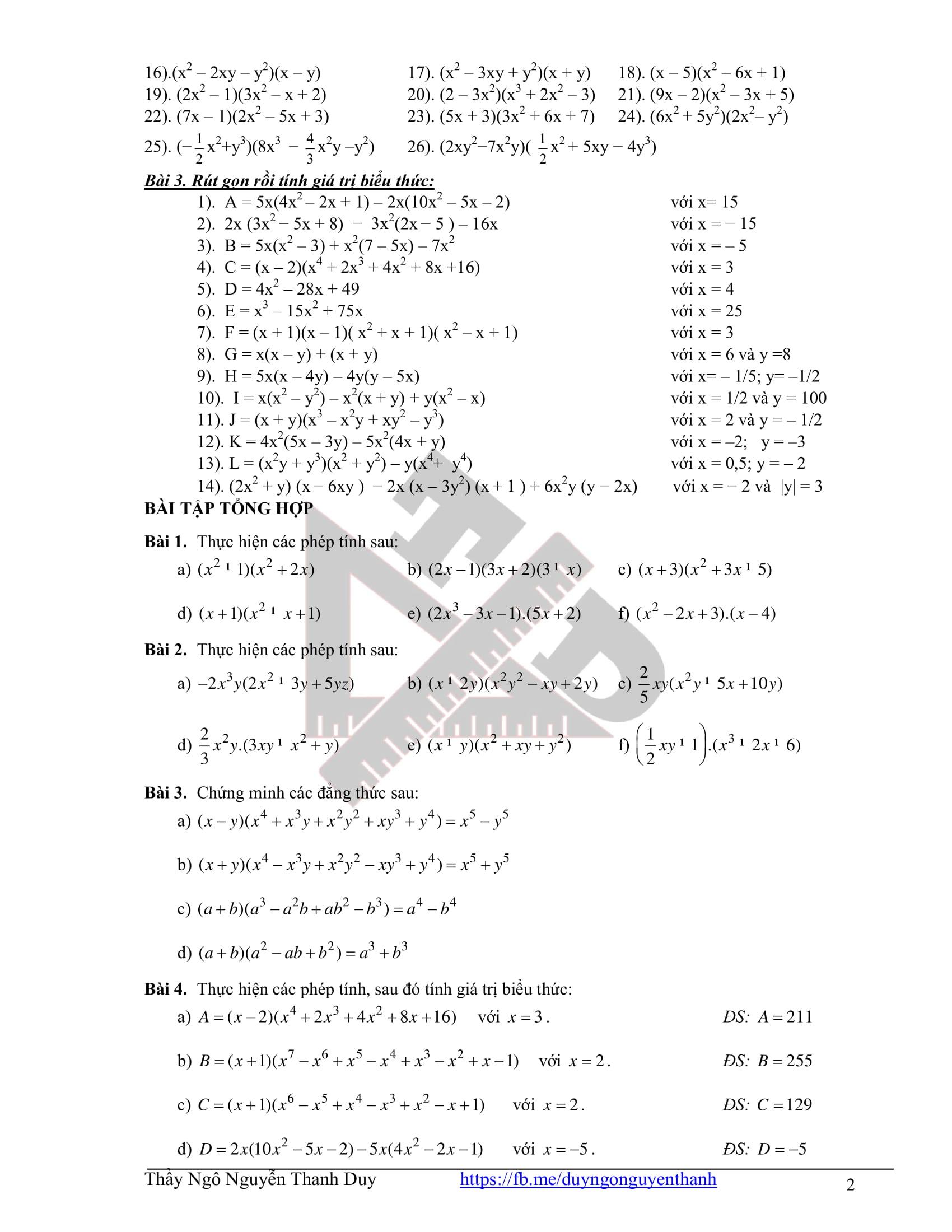 Ôn tập cả năm toán 8 2020-2021