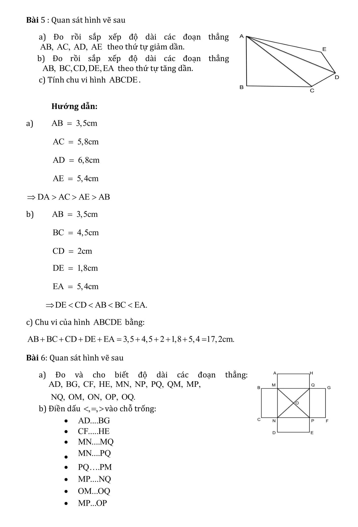 Phiếu bài tập Tuần 7 đến Tuần 14 - Toán hình 6 - Bản word
