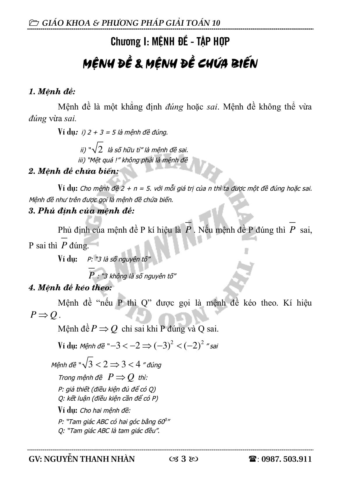Đề cương toán 10 cả năm Full lý thuyết + bài tập