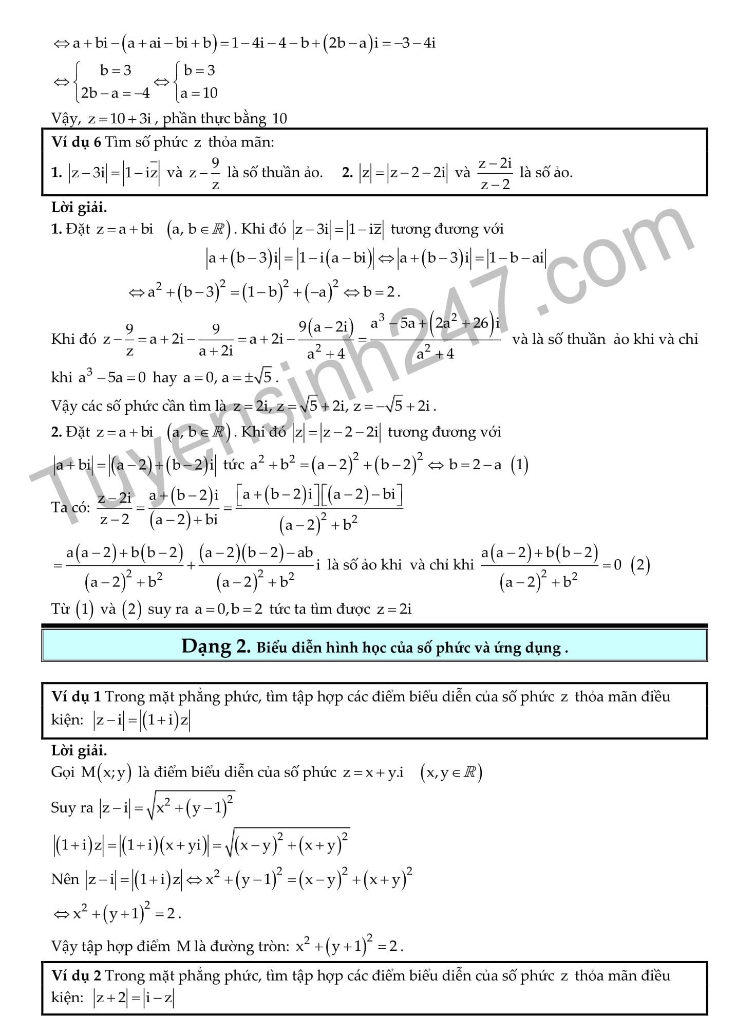 Toán 12 Chương 4: Số phức - 235 Bài tập trắc nghiệm có lời giải