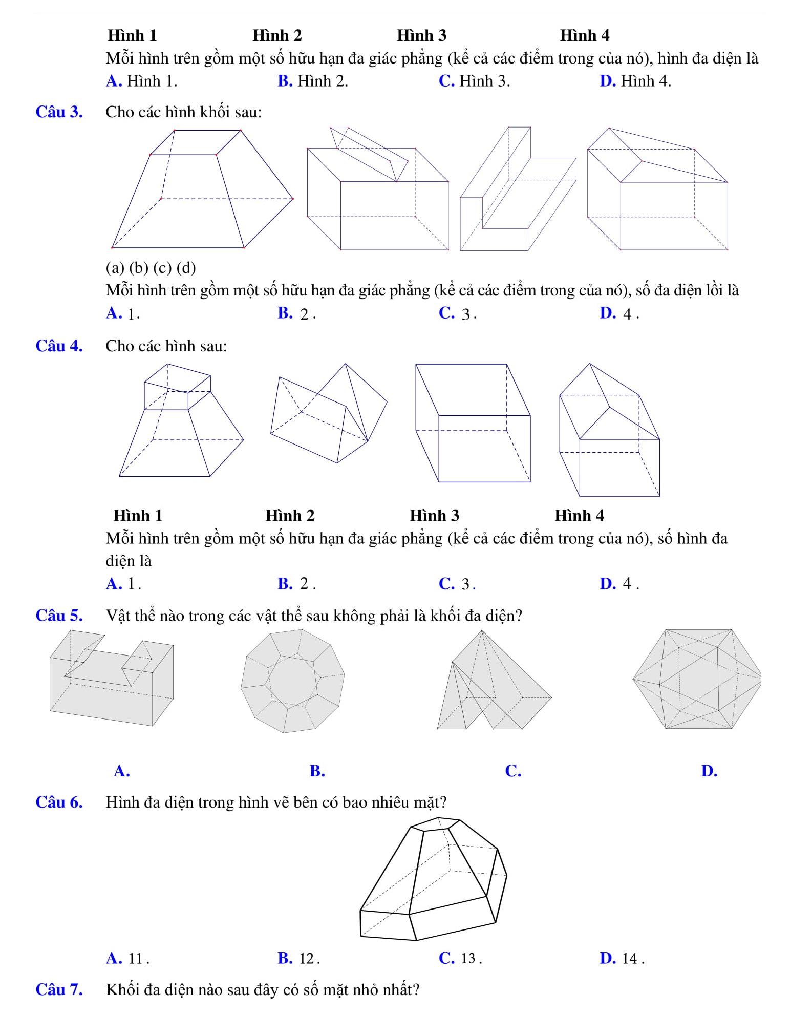 Chuyên đề 1 Khối đa diện bài tập được tổng hợp