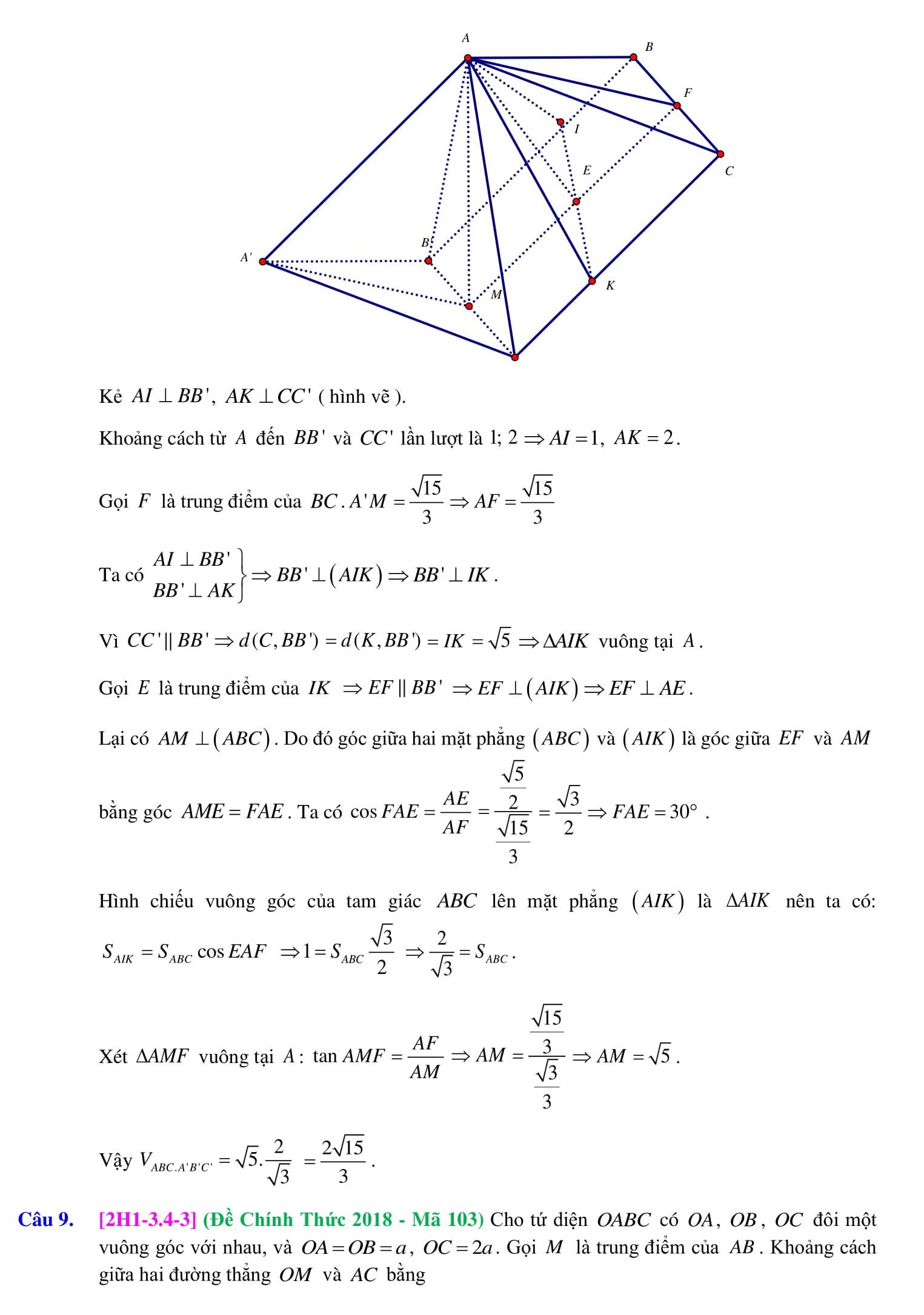 Khái niệm về thể tích khối đa diện - Toán 12