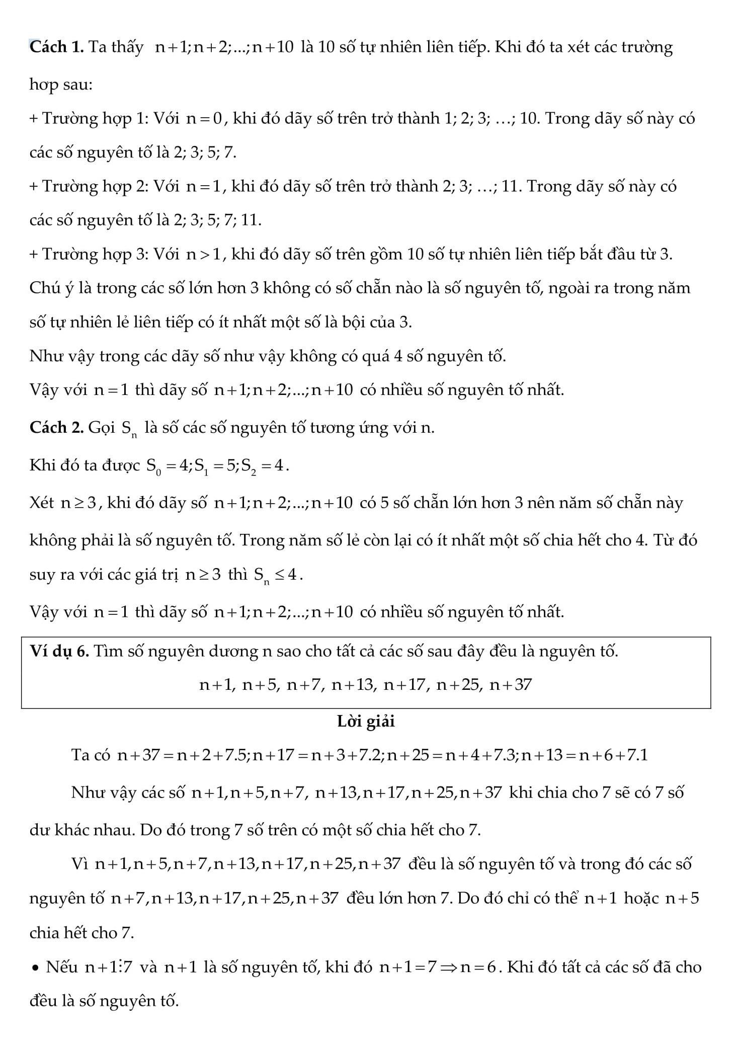Chuyên đề Toán 6: Số nguyên tố hợp số