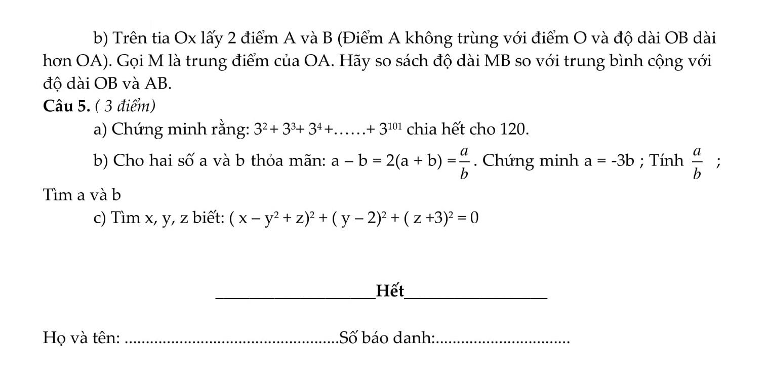 50 Đề thi HSG toán 6 qua các năm có lời giải