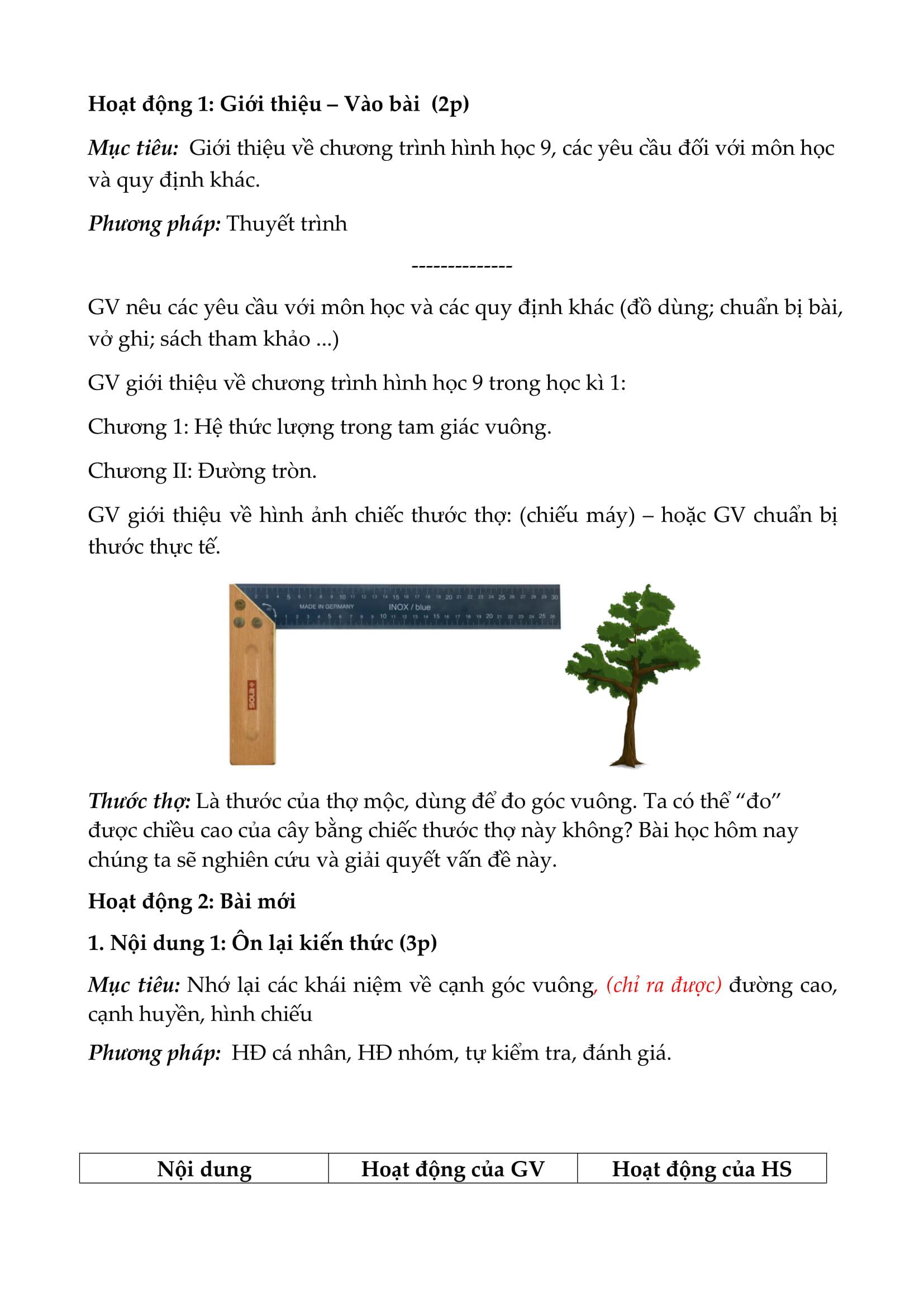 Bài giảng Toán 9 theo chuyên đề - Bản Word