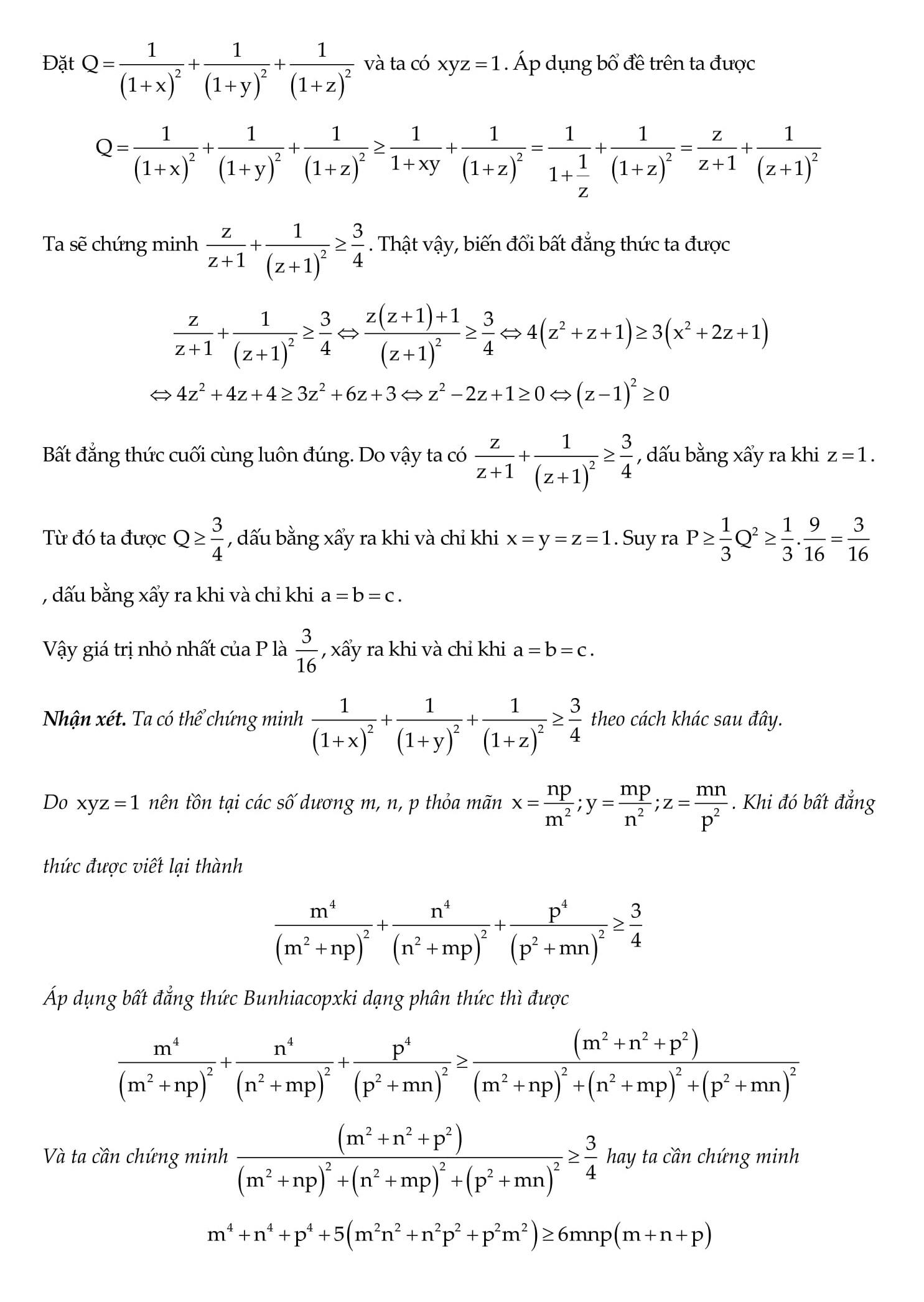 50 Bài tập Bất đẳng thức tìm GTLN và GTNN nâng cao