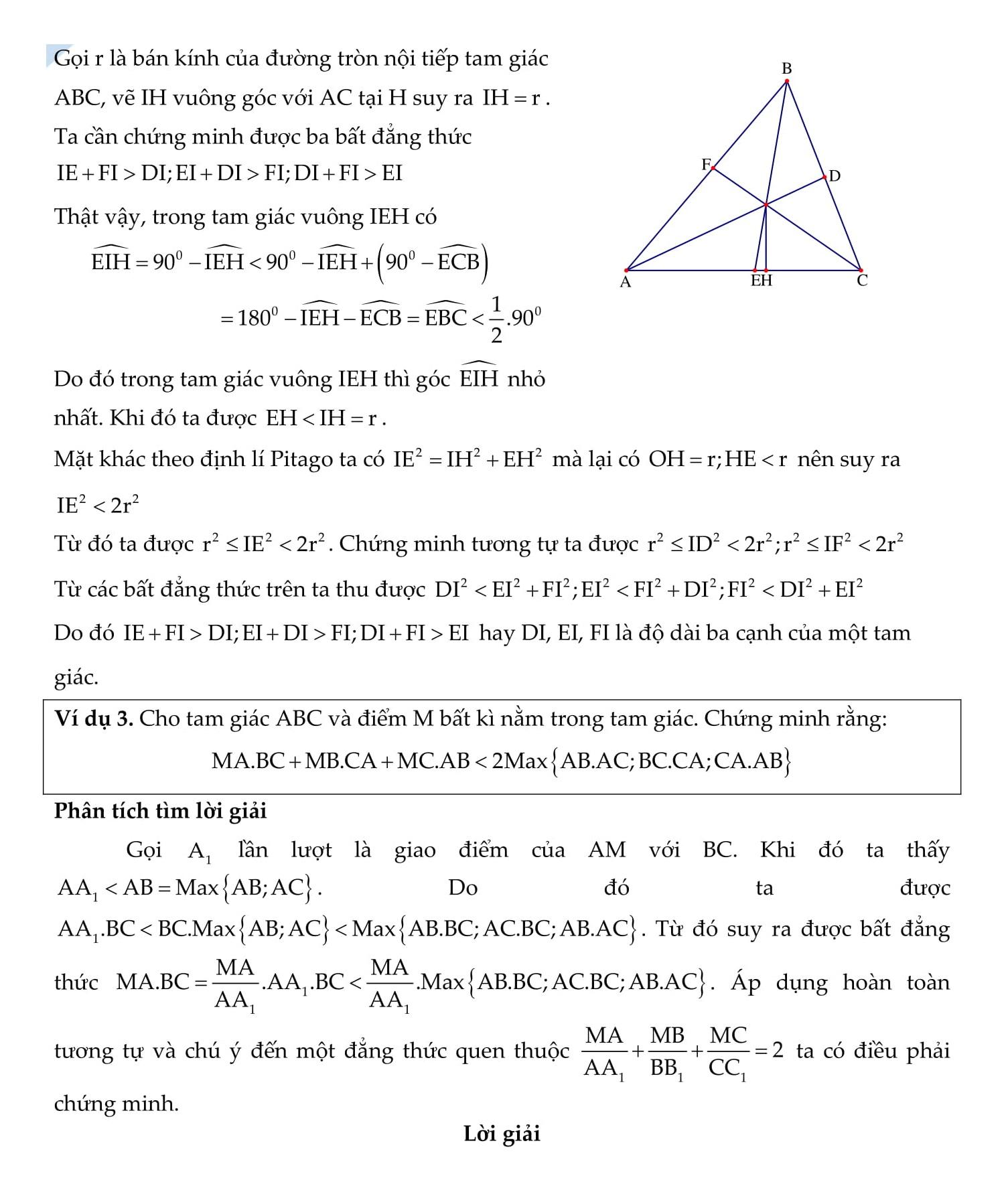 Bất đẳng thức trong cực trị hình học - Toán 9