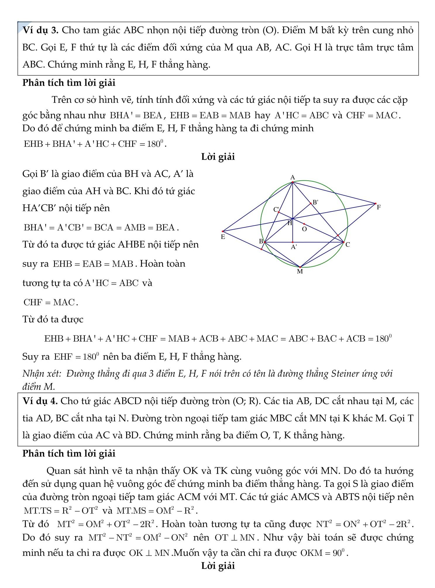 Chuyên đề: Các đường thẳng đồng quy và bài tập chứng minh 3 điểm thẳng hàng