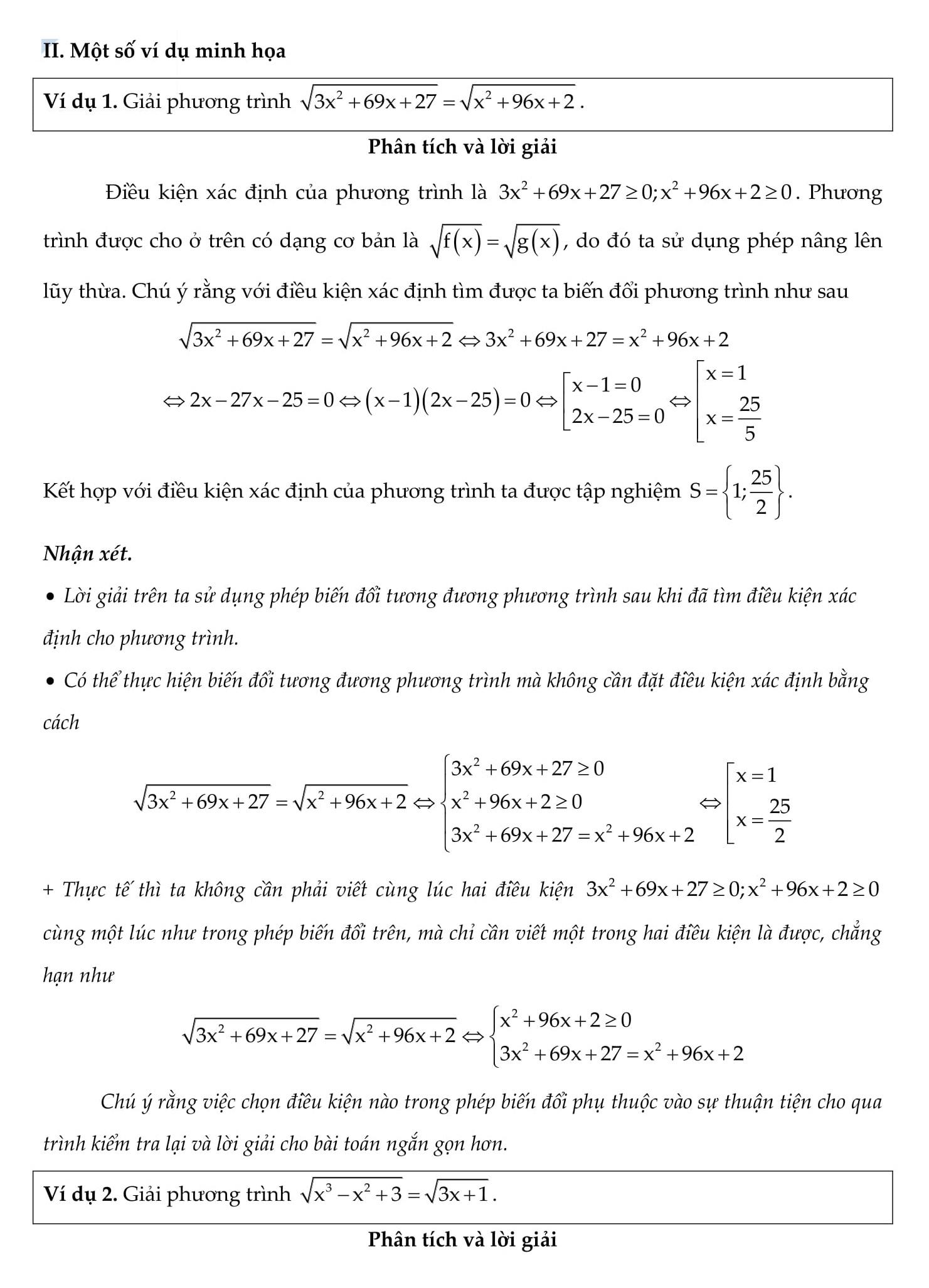 Chuyên đề Phương trình vô tỉ - Toán 9