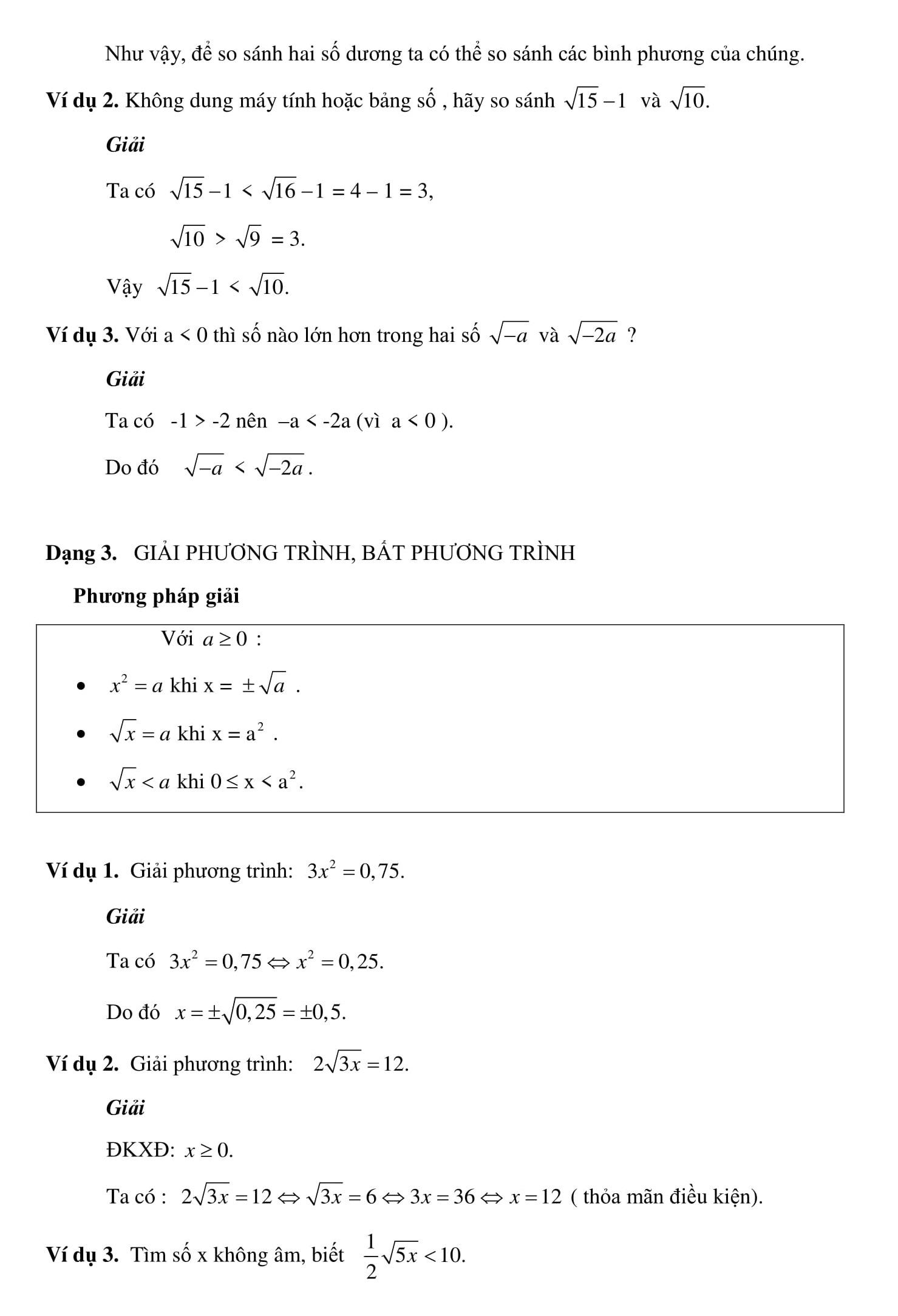 Chuyên đề 1: Căn bậc 2 và căn bậc 3 được tổng hợp