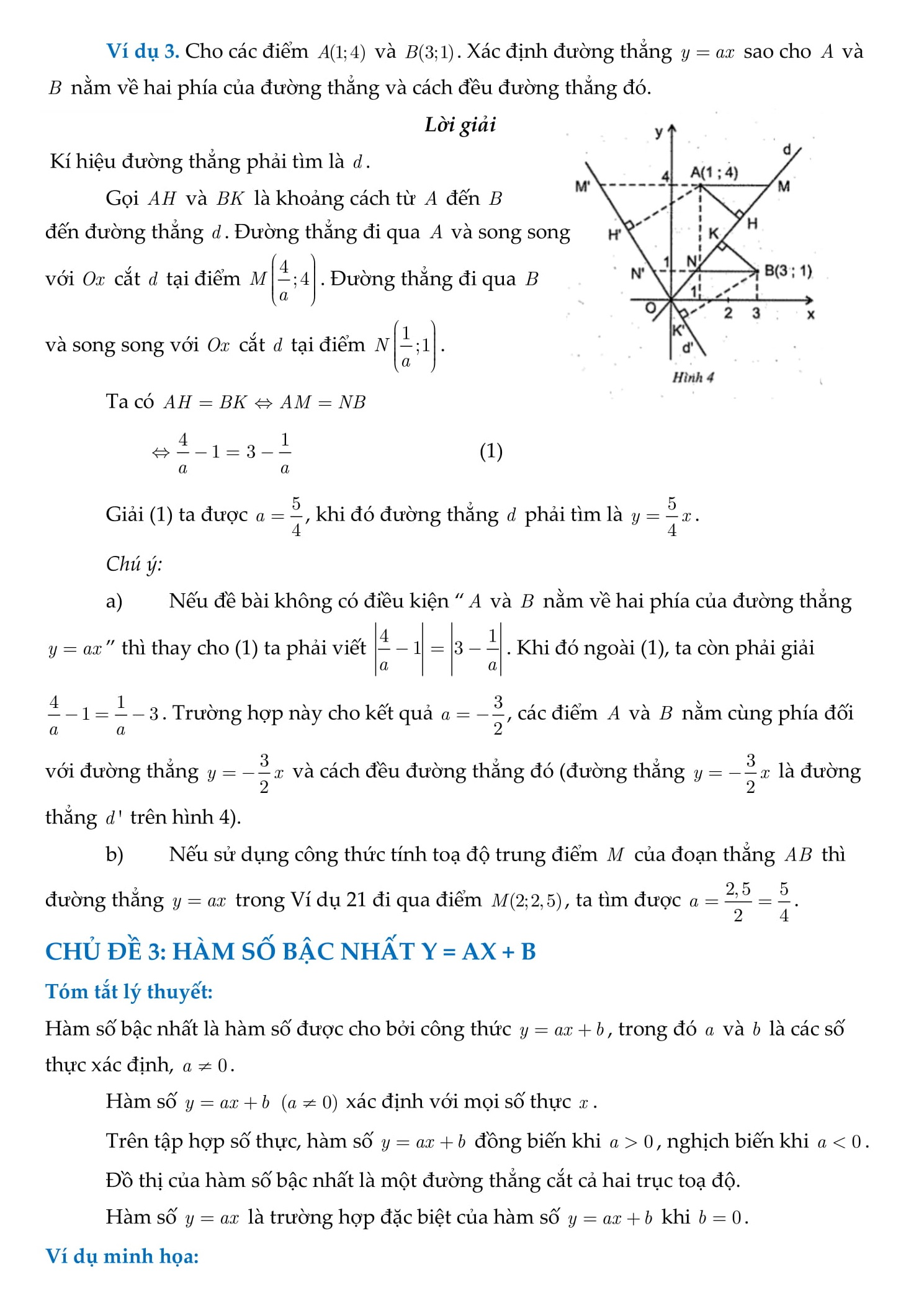 Chuyên đề Hàm số - Toán đại số 9