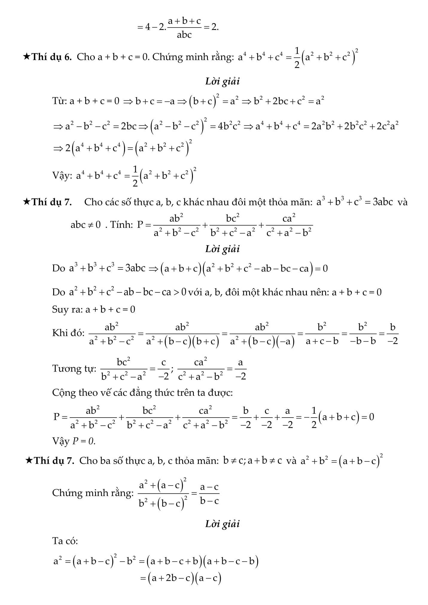 Chứng minh bất đẳng thức và tính giá trị biểu thức - Toán 9