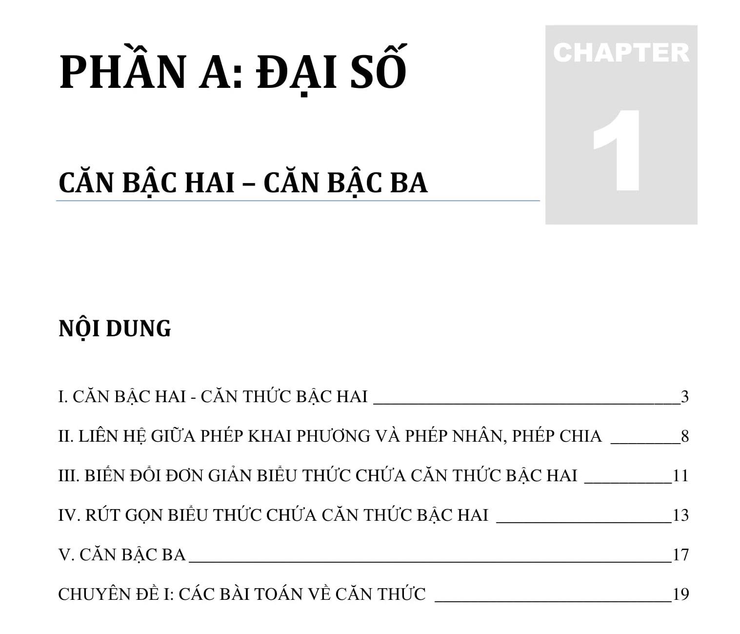 Đề cương toán 9 HK1 năm 2021 được tổng hợp