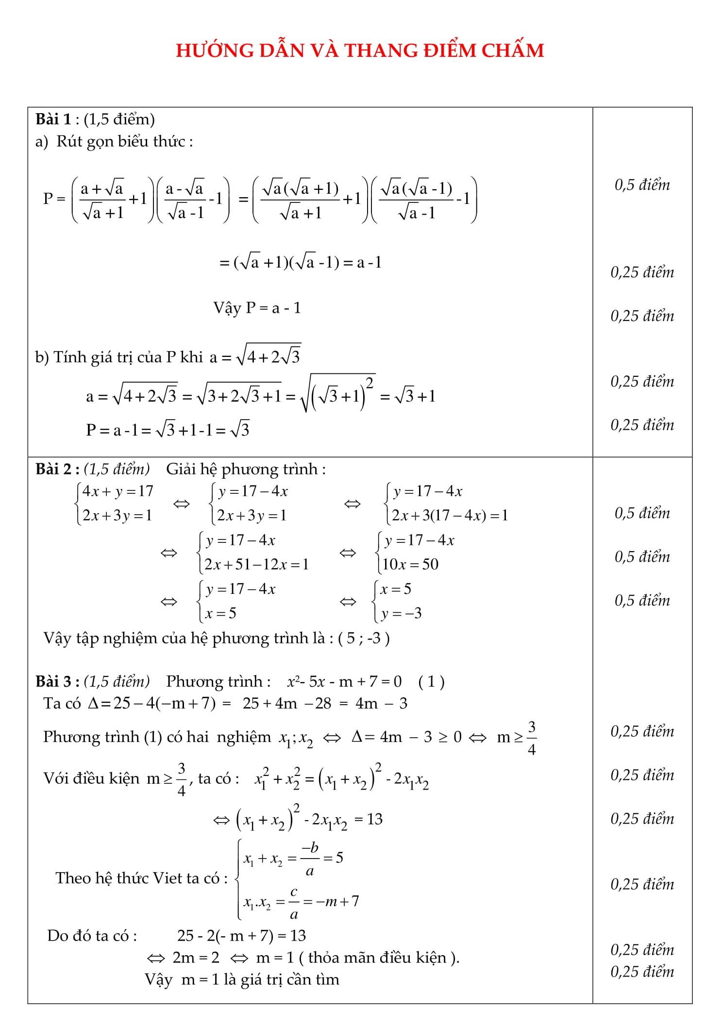 Đề thi HK2 toán 9 được tổng hợp