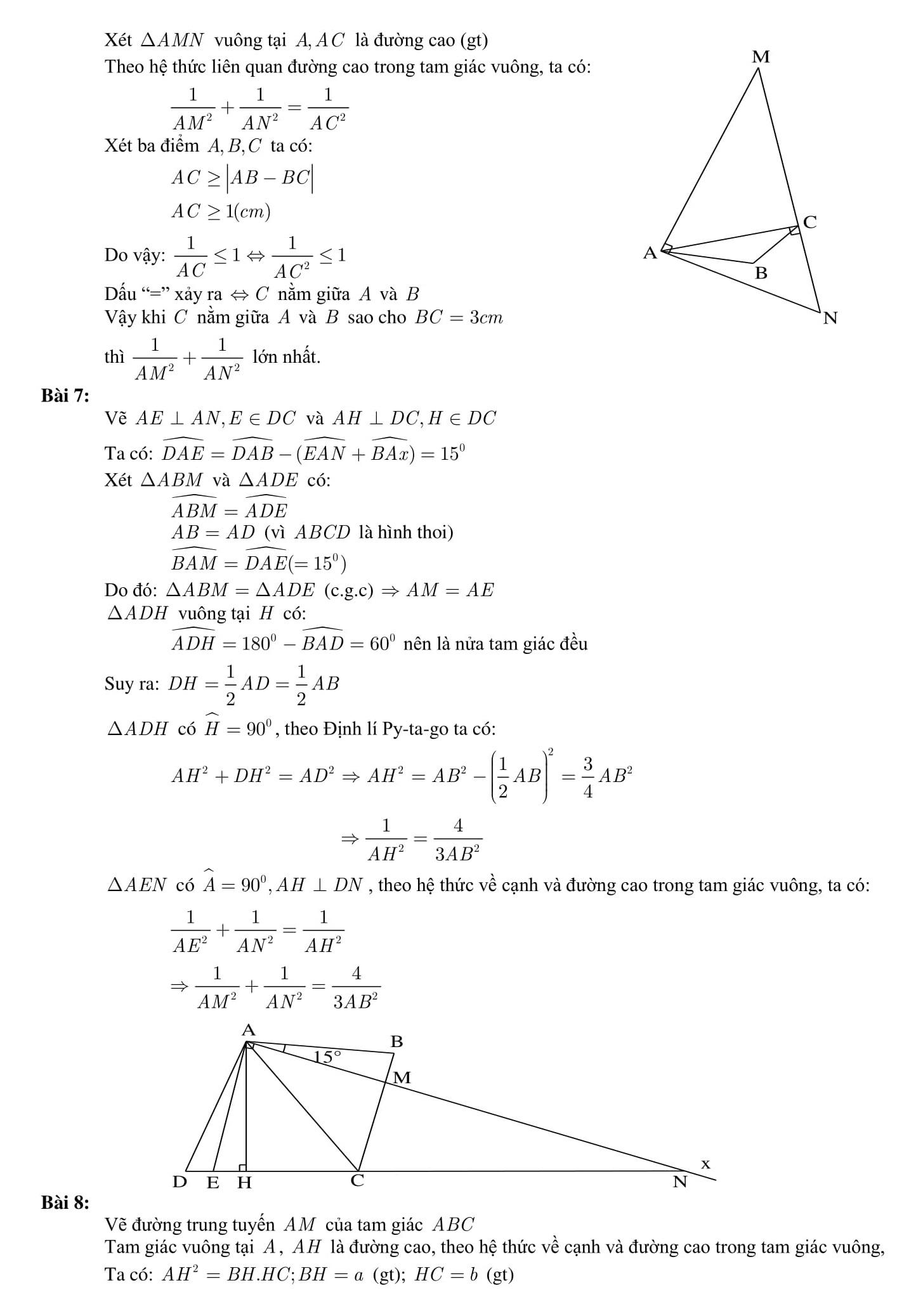 Tổng hợp các dạng bài tập Toán 9 có trong đề thi