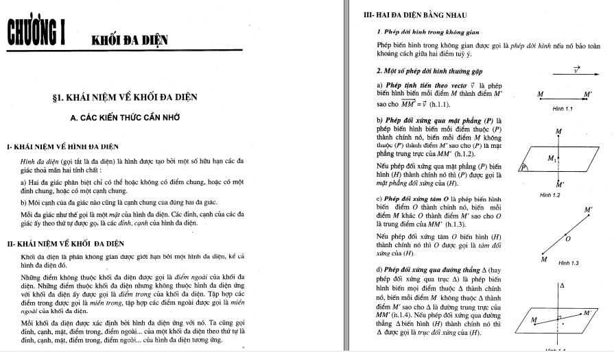 Kiến Thức - Bài Tập Hình Học Toán 12 Căn Bản - Phần 1 năm 2021