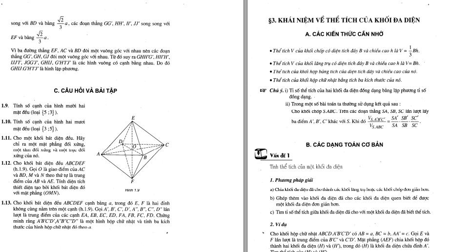 Kiến Thức - Bài Tập Hình Học Toán 12 Căn Bản - Phần 1 năm 2021 Hay