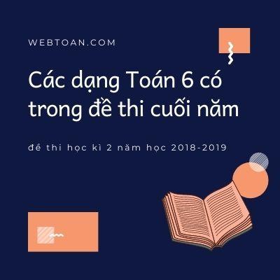 Các dạng Toán 6 có trong đề thi cuối năm, đề thi học kì 2 năm học 2018-2019