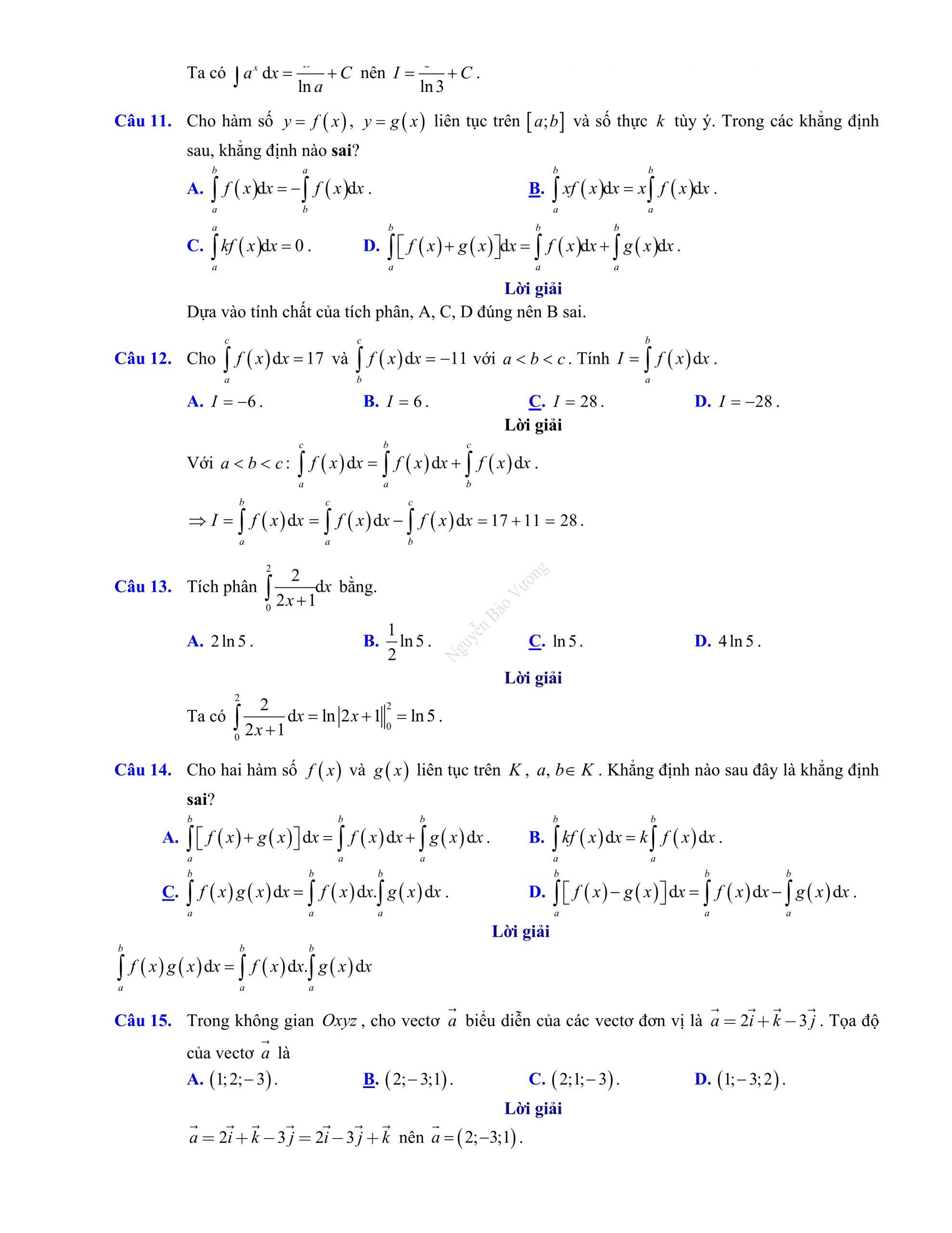 Đề thi giữa hk2 toán 12 mới chuẩn chuong trinh mới
