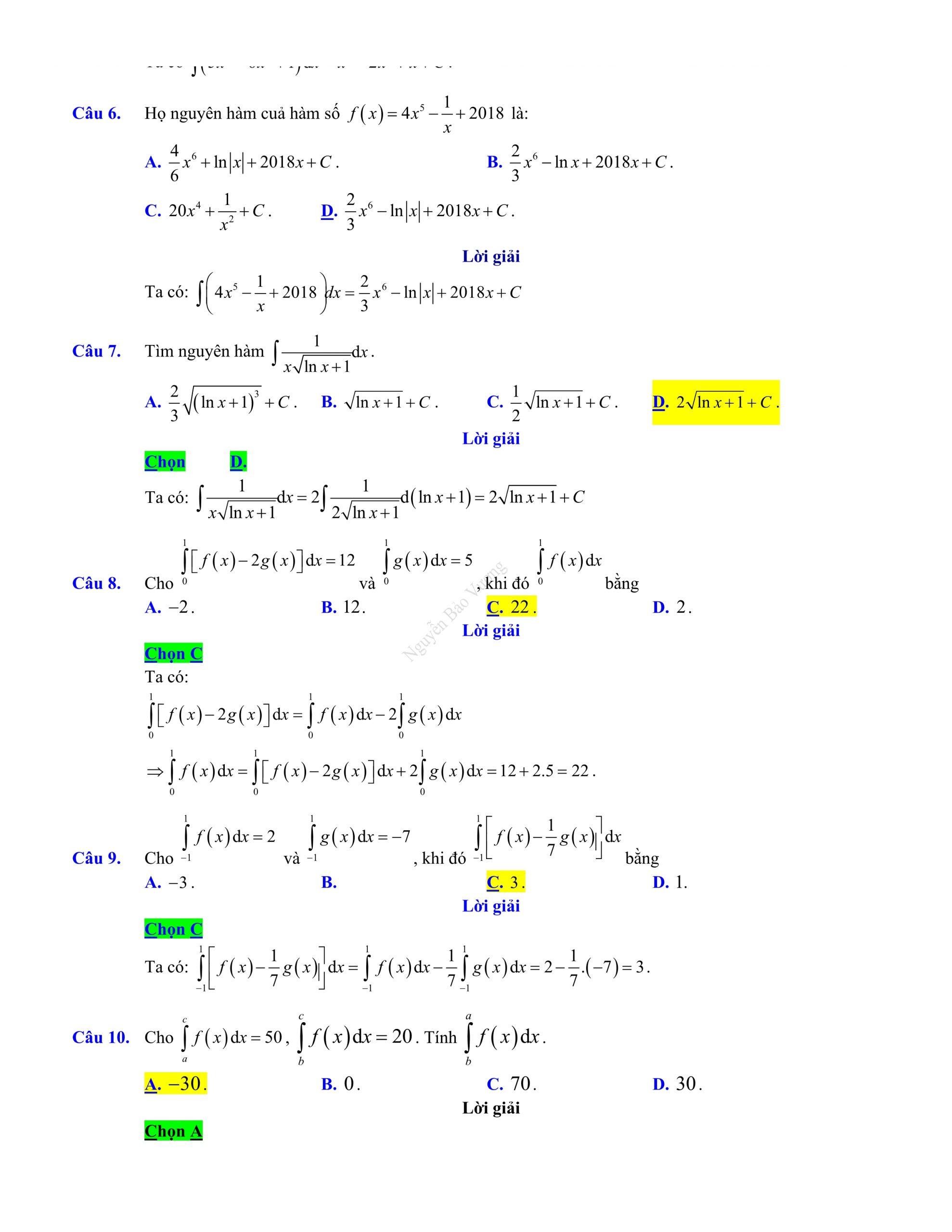 Đề thi giữa hk2 toán 12 có đáp án 2021 dễ giải