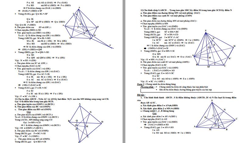 Hướng dẫn giải Hình Học Không Gian Toán 11 qua ví dụ