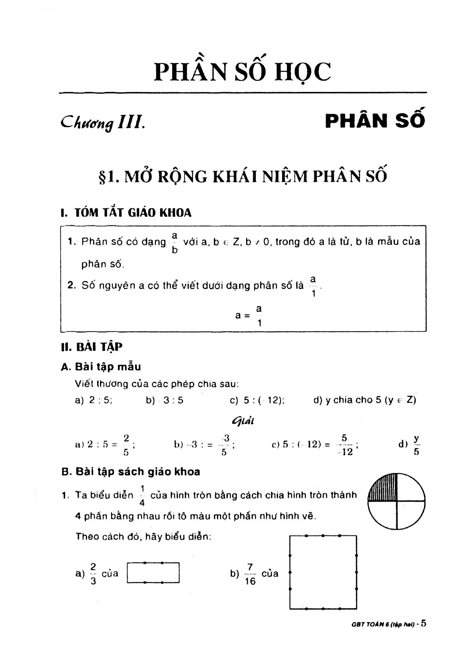 Hướng dẫn giải bài tập SGK Toán 6 - Đại Số chuẩn
