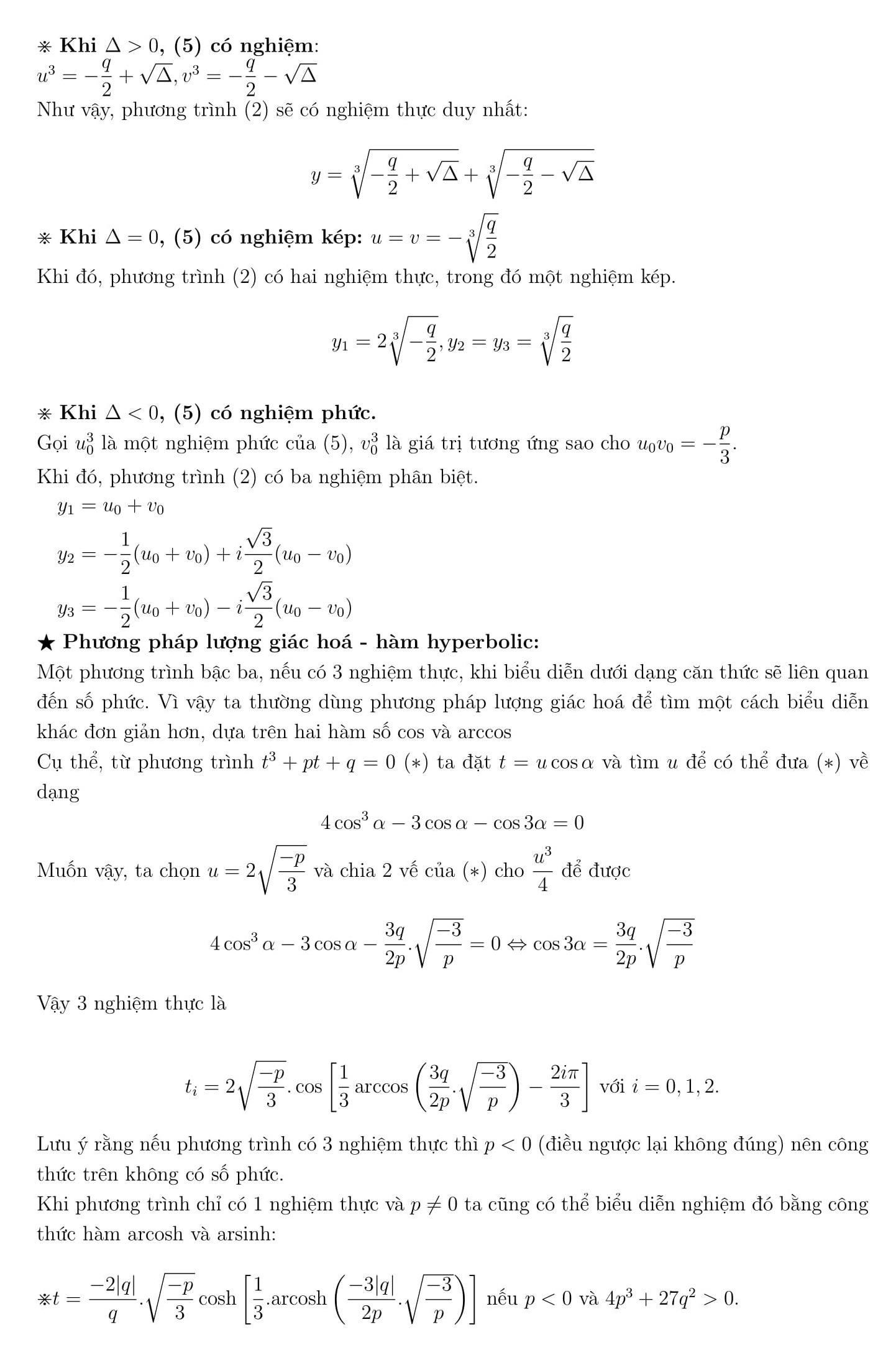 Chuyên đề Toán 12: Phương trình và hệ phương trình