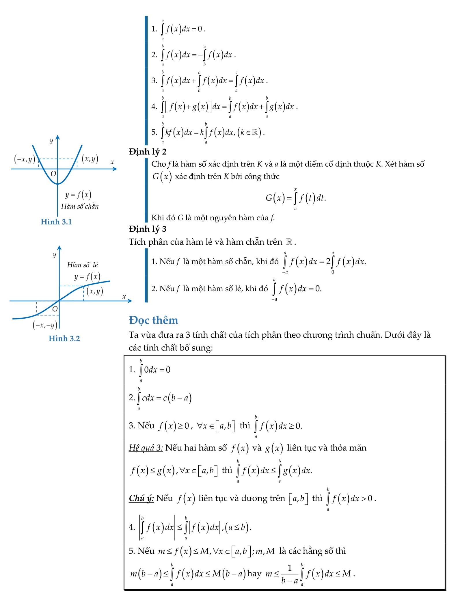 Chuyên đề 3: Nguyên hàm và tích phân - Toán 12