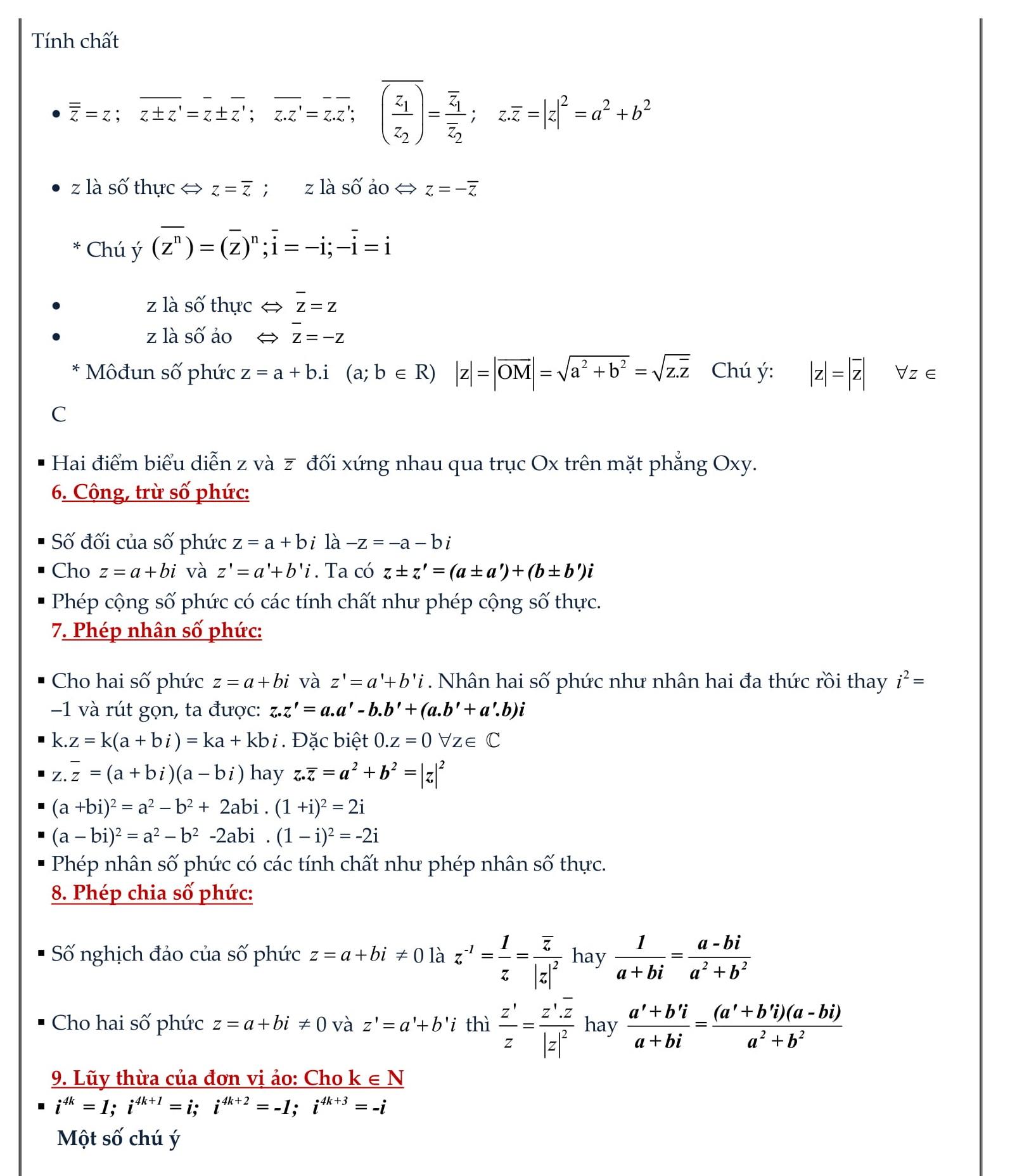 Chuyên đề Số phức (bài tập + giải) - Toán 12