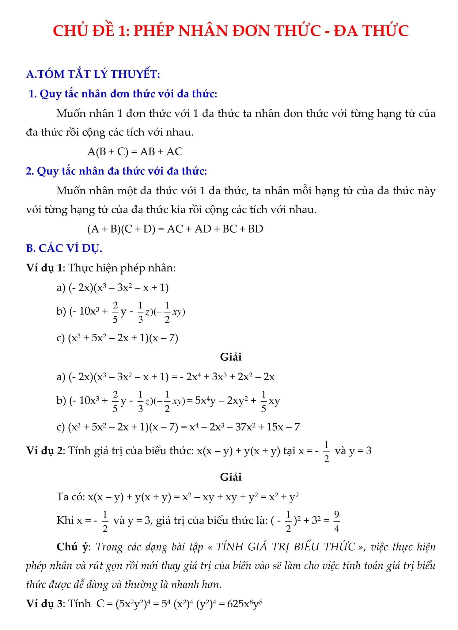 Giải bài tập Toán Đại số 8 HK1 và HK2