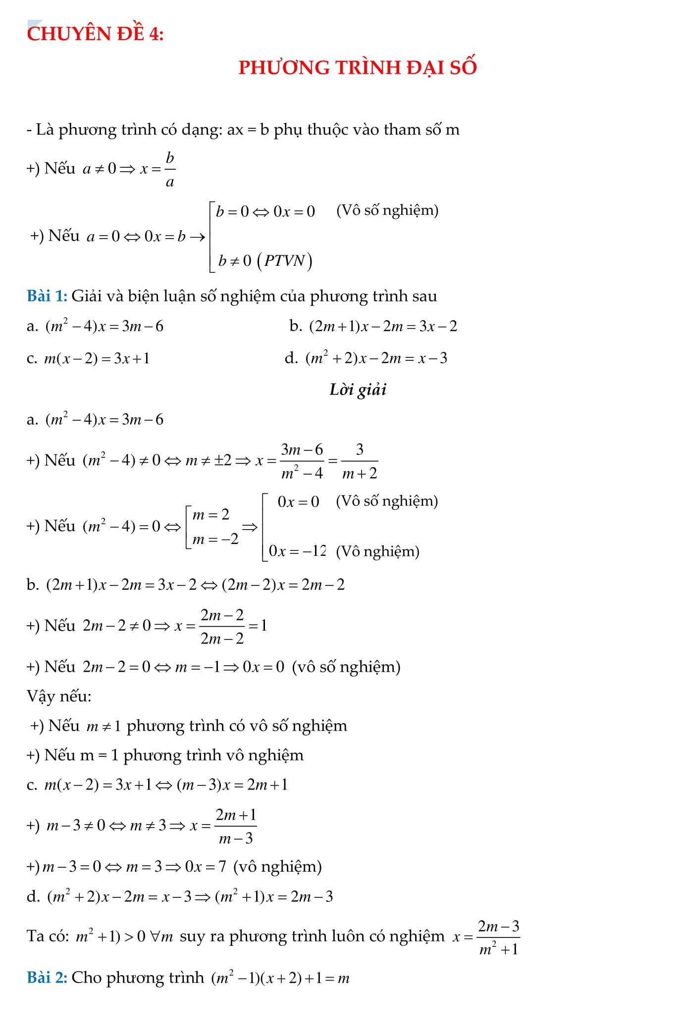 Đề cương HK2 Toán 8 (hình học + đại số) tổng hợp chi tiết