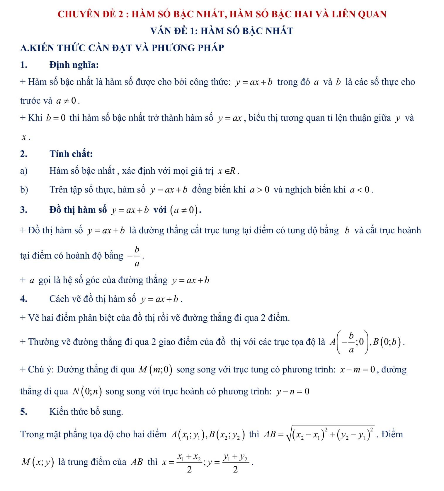 Đề cương HK2 Toán đại số 9 (bài tập + giải) word