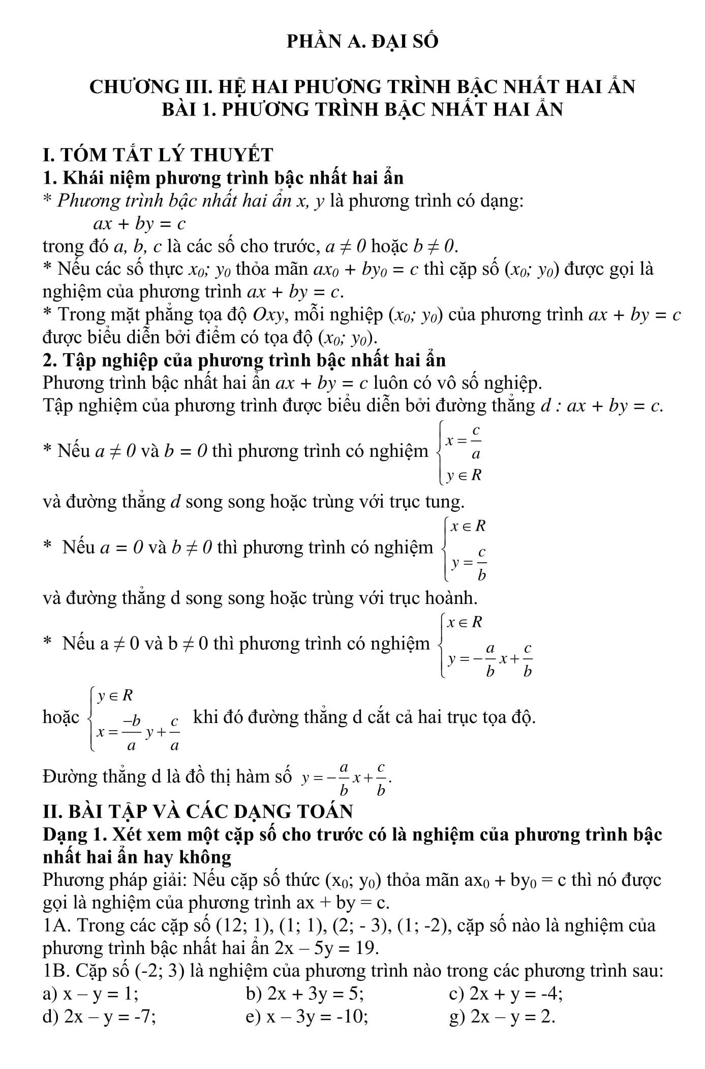 Đề cương củng cố kiến thức HK2 toán 9 (bài tập + lời giải)