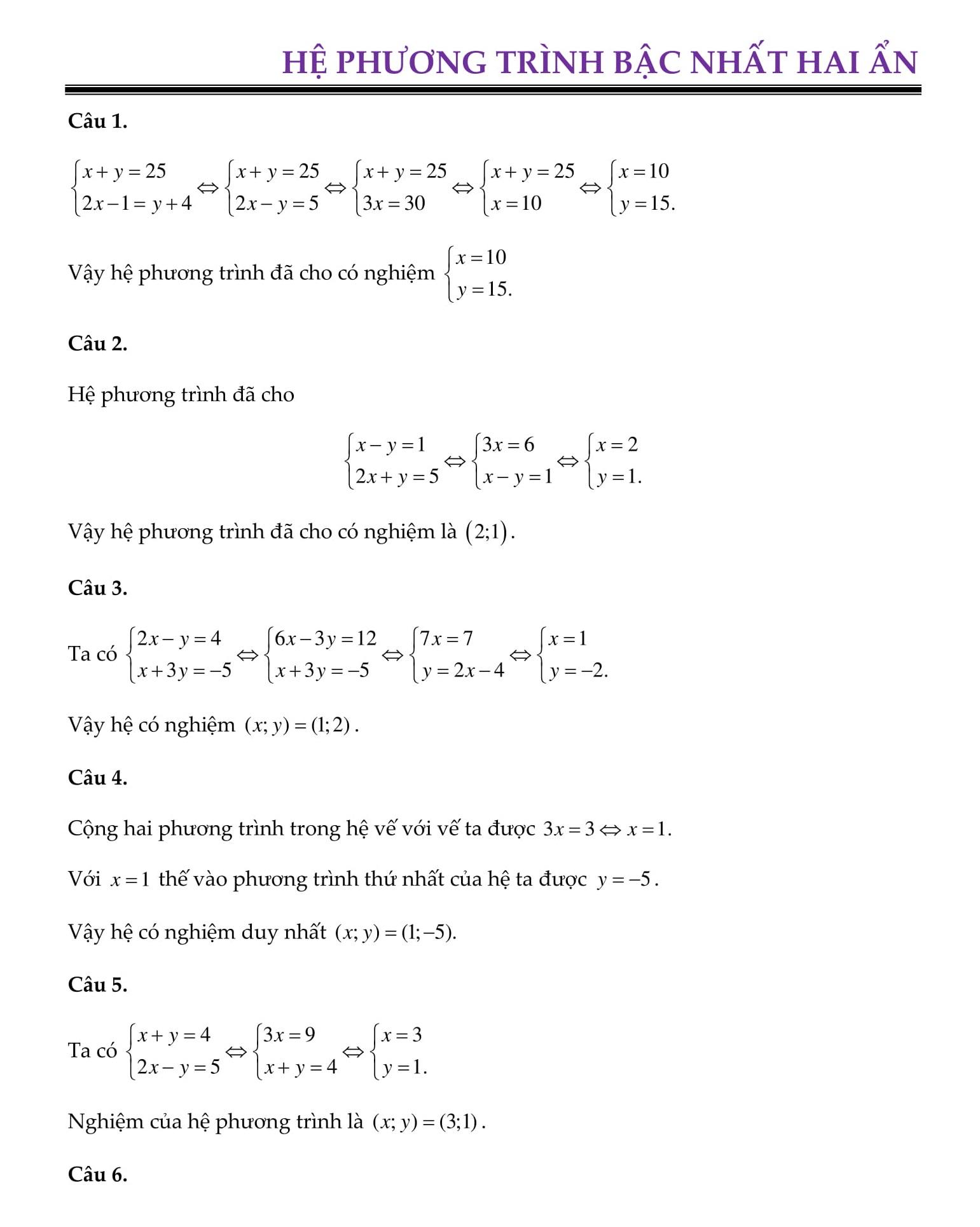 Đề cương HK2 Toán 9 phần đại số (bài tập + giải)