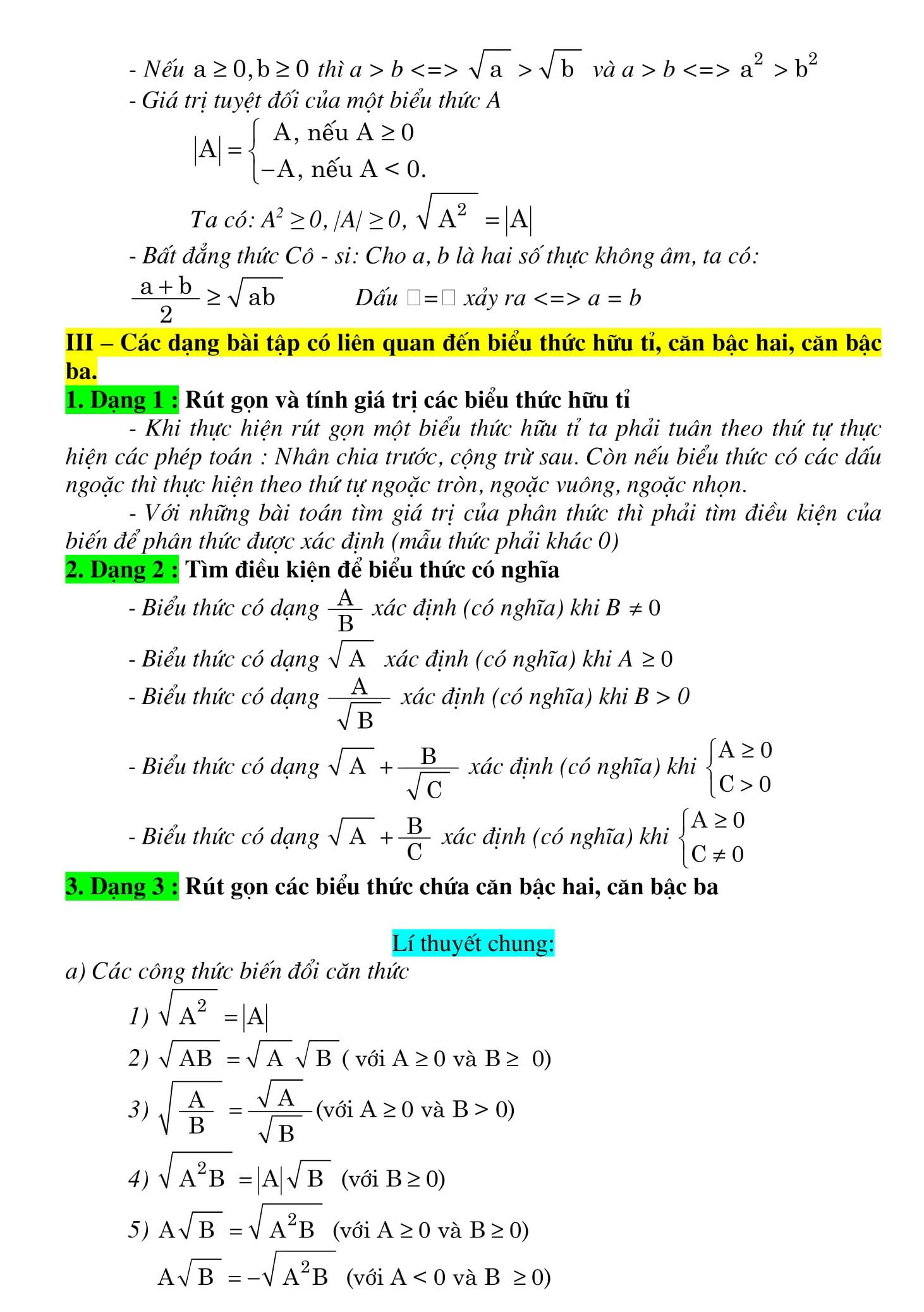 Tổng hợp lý thuyết Toán THCS giúp ôn tập hiệu quả640